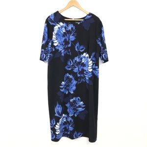 Liz Claiborne | Blue Floral Stretchy Dress